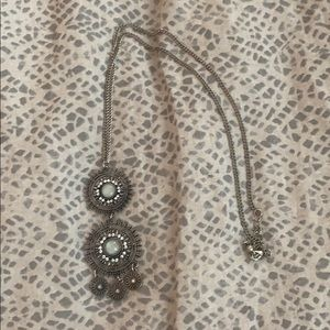 Francesca's silver boho medallion necklace